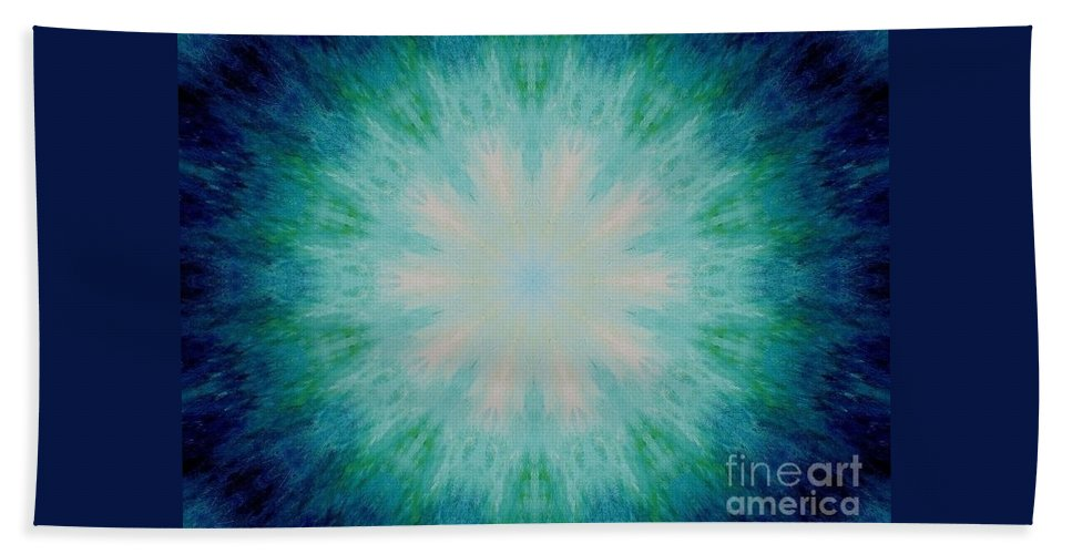 The Eye Of The Beholder Bath Sheet featuring the painting The Eye Of The Beholder by Michael Grubb