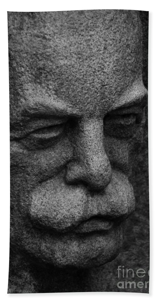 Stone Bath Sheet featuring the photograph The Face by Grace Grogan