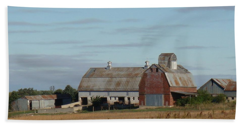 Farm Hand Towel featuring the photograph The Farm II by Bonfire Photography