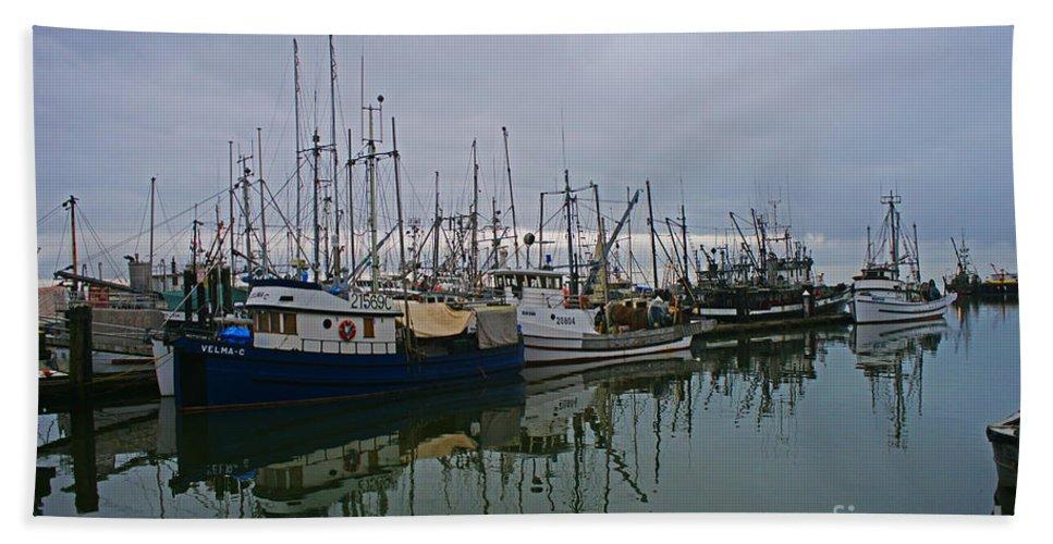 Fishing Boats Bath Sheet featuring the photograph The Fishing Fleet by Randy Harris