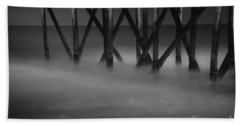 Fishing Hand Towel featuring the photograph The Fishing Pier by Paul Ward