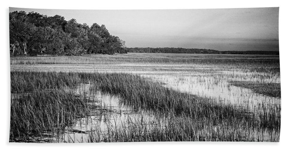 Beaufort County Bath Sheet featuring the photograph The Flats by Phill Doherty