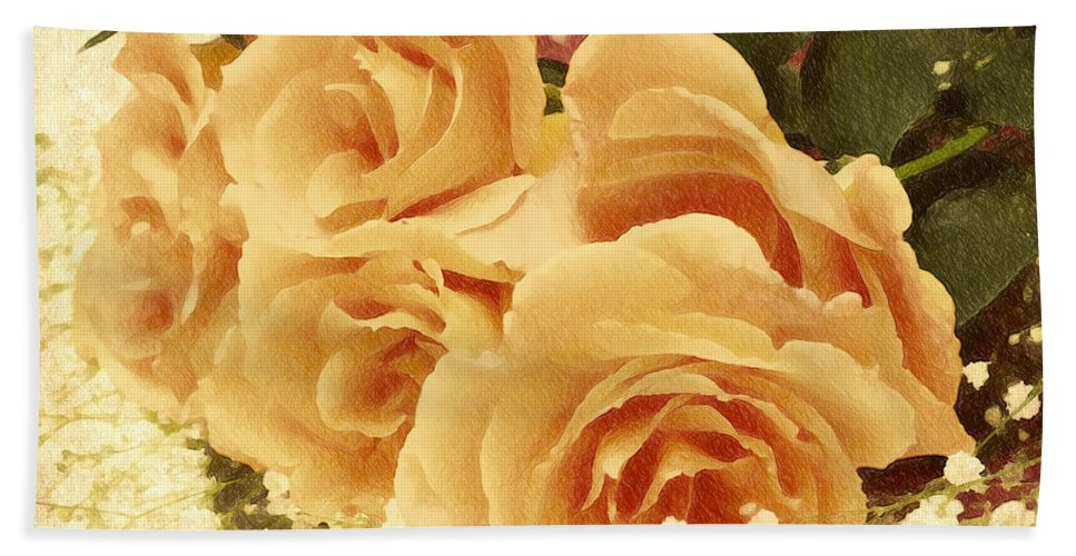 Rose Bath Sheet featuring the digital art The Golden Gift by Georgiana Romanovna