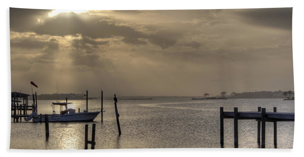Golden Hand Towel featuring the photograph The Golden Hour II by David Troxel