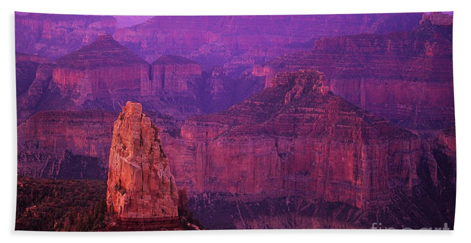Grand Canyon Hand Towel featuring the photograph The Grand Canyon North Rim by Bob Christopher