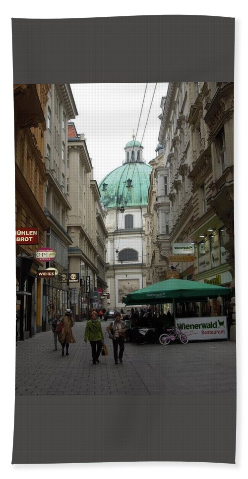 Vienna Hand Towel featuring the photograph The Heart Of Vienna by Bobbie Moller