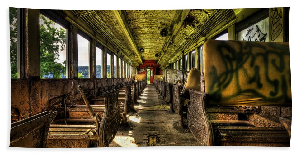 Train Bath Sheet featuring the photograph The Journey Ends by Evelina Kremsdorf
