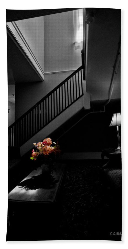 Stairway Hand Towel featuring the photograph The Landing by Christopher Holmes
