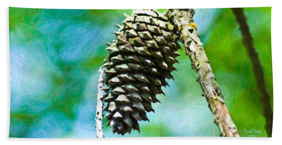 Acorn Hand Towel featuring the photograph The Last Acorn by Trish Tritz