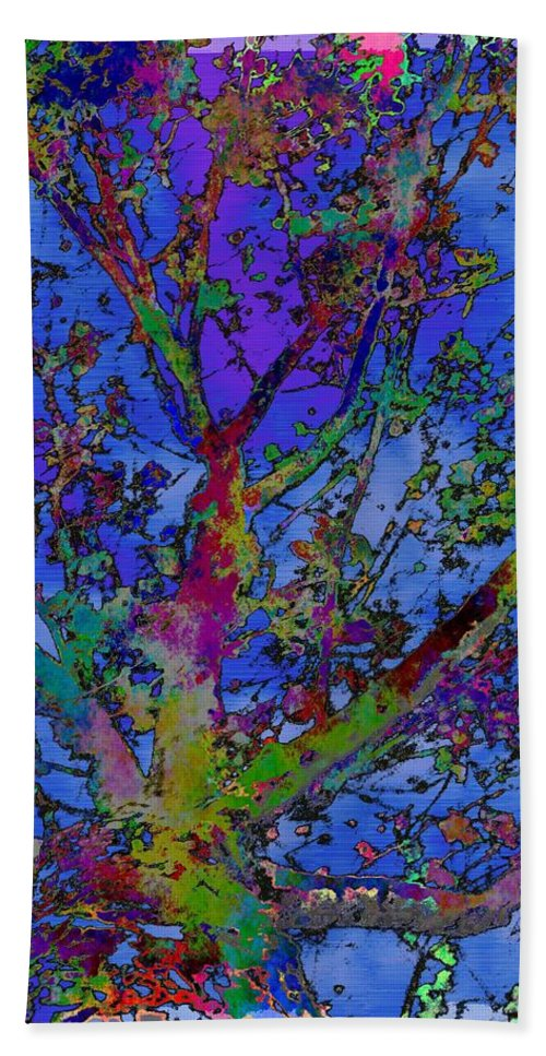 Maple Bath Sheet featuring the digital art The Maple Tree by Tim Allen