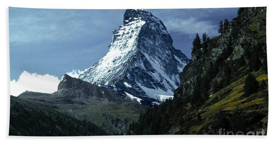 Matterhorn Hand Towel featuring the photograph The Matterhorn by Mike Nellums