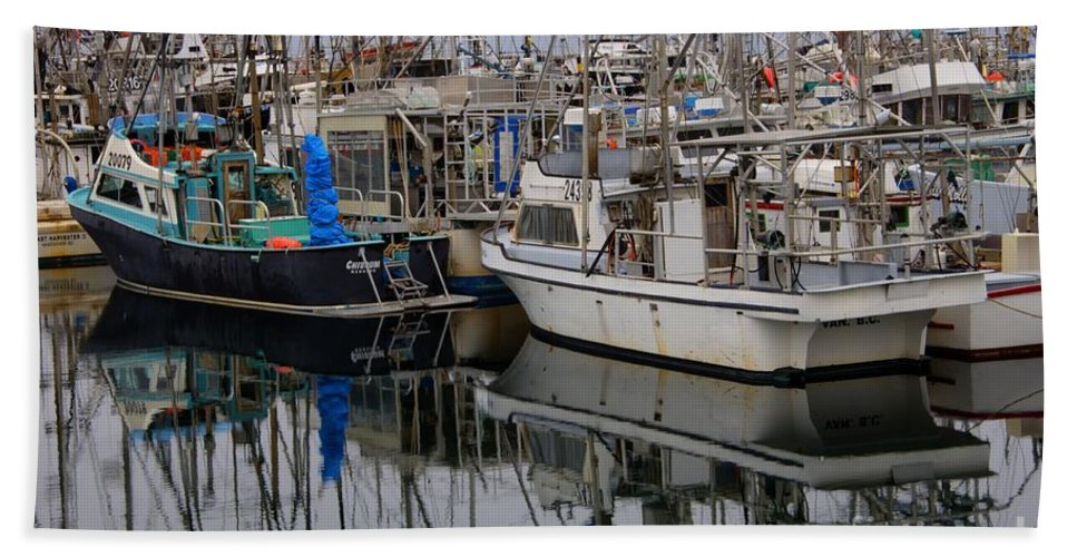 Fishing Boats Bath Sheet featuring the photograph The Maze by Bob Christopher