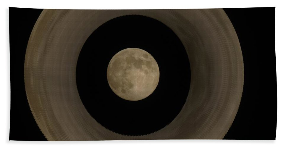 Moon Hand Towel featuring the photograph The Moon Within The Moon by Jeff Swan