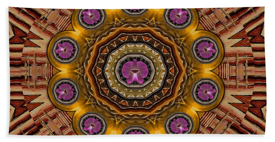 Orchid Bath Sheet featuring the mixed media The Most Beautiful Orchids by Pepita Selles