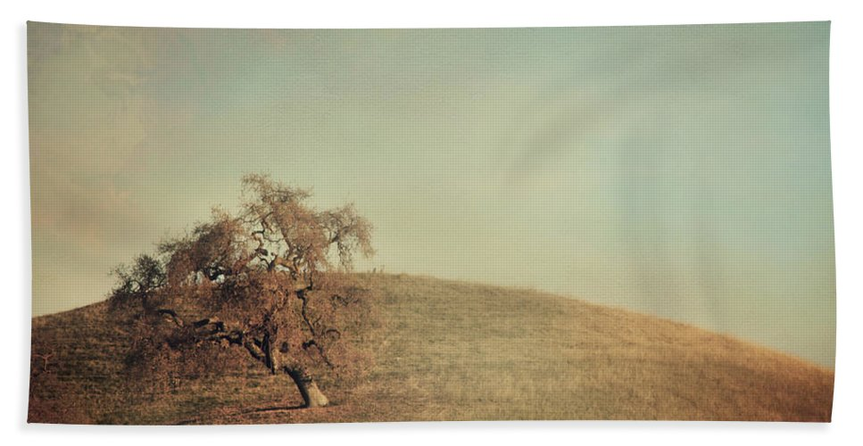 Landscape Bath Sheet featuring the photograph The Neverending Loneliness by Laurie Search