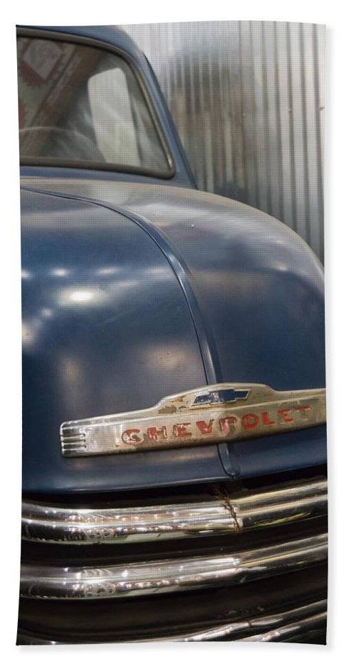 Chevrolet Bath Sheet featuring the photograph The Ol' Chevy by Heidi Smith