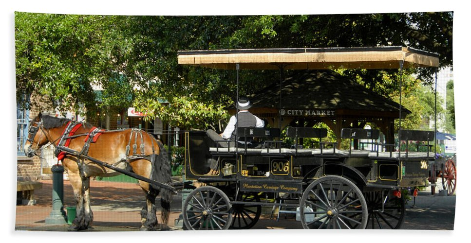 Fine Art Photography Hand Towel featuring the photograph The Old City Market by David Lee Thompson