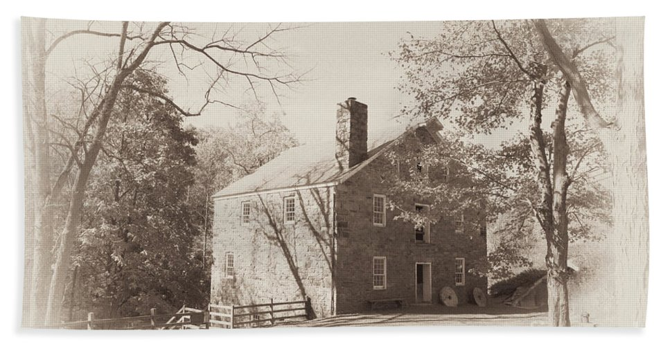 Old Mill Bath Sheet featuring the photograph The Old Mill by Regina Geoghan