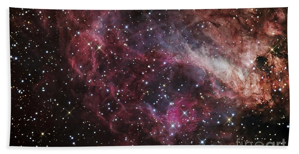 Astronomy Bath Sheet featuring the photograph The Omega Nebula by R Jay GaBany