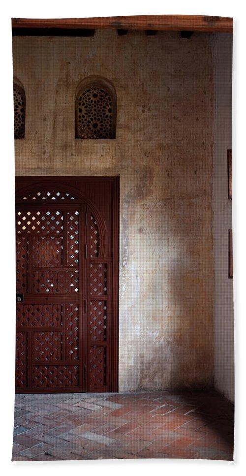Granada Bath Sheet featuring the photograph The Pink Corner by Lorraine Devon Wilke