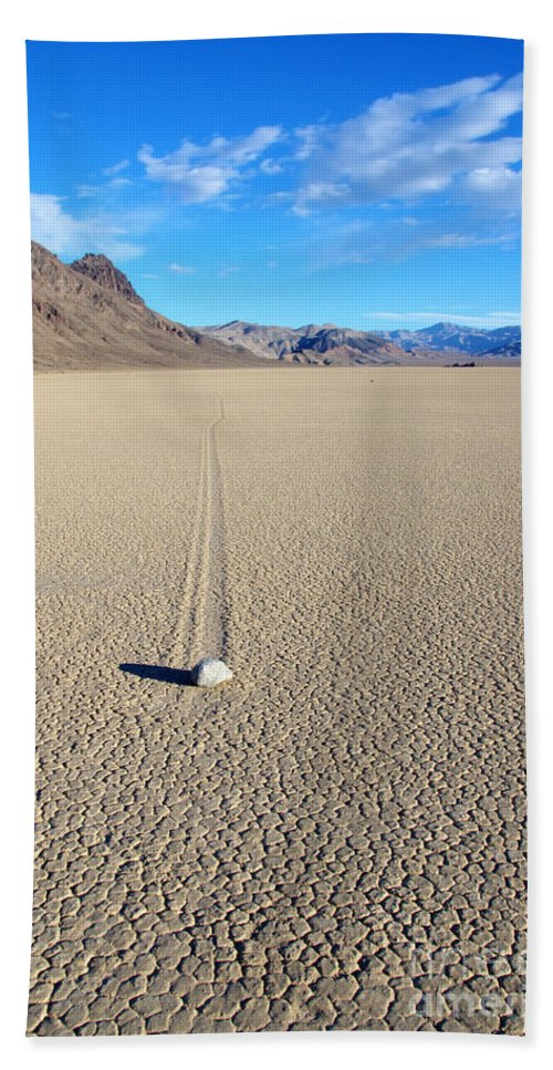 Racetrack Hand Towel featuring the photograph The Racetrack Playa by Bob Christopher