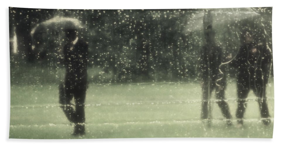 Rain Hand Towel featuring the photograph The Rain Shower by Marysue Ryan