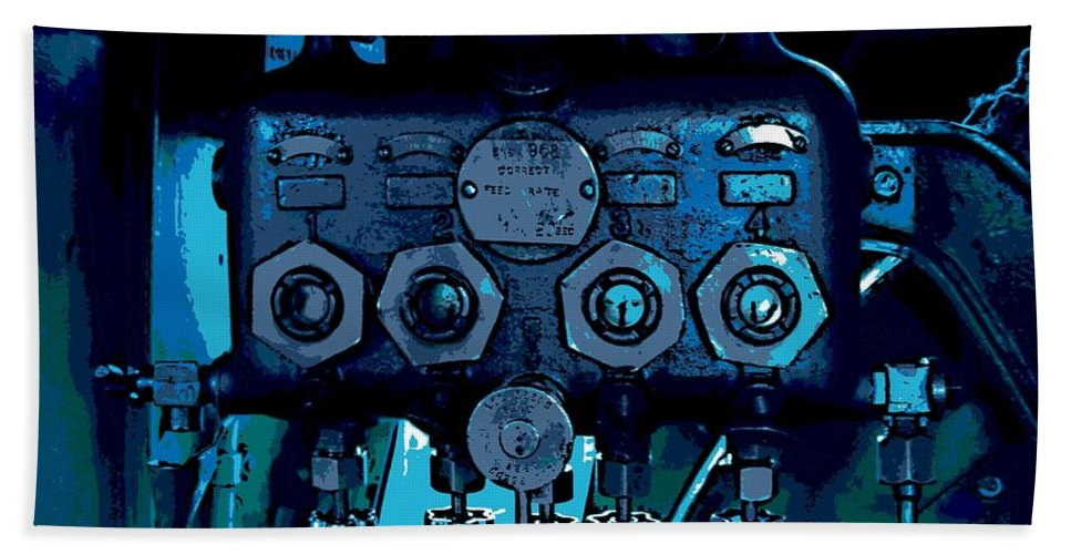 Steam Power Bath Sheet featuring the photograph the Regulator by George Pedro