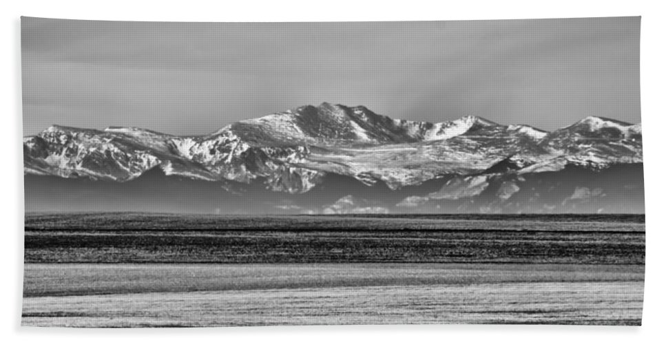 Rocky Mountains Bath Sheet featuring the photograph The Rockies by Heather Applegate
