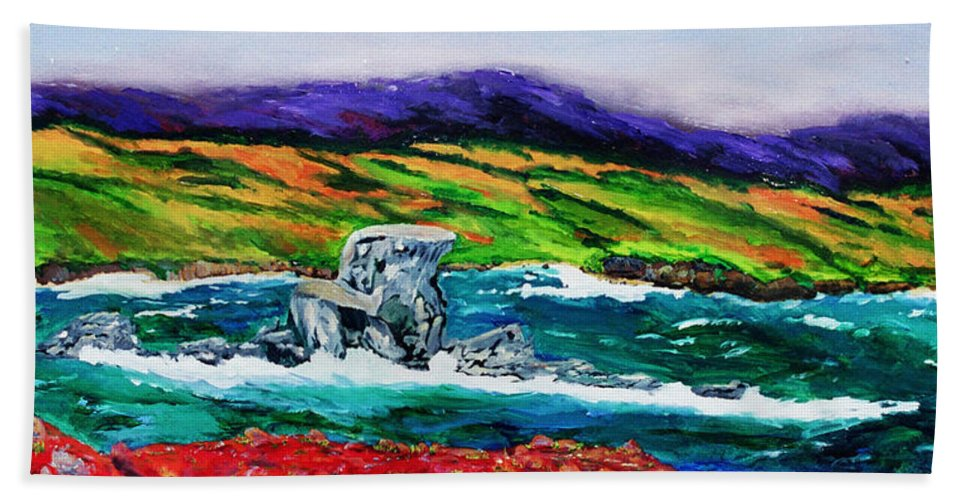 Seascape Hand Towel featuring the painting The Sentinel  by Gail Daley