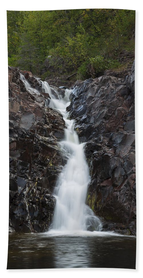 The Hand Towel featuring the photograph The Shallows Waterfall 5 by John Brueske