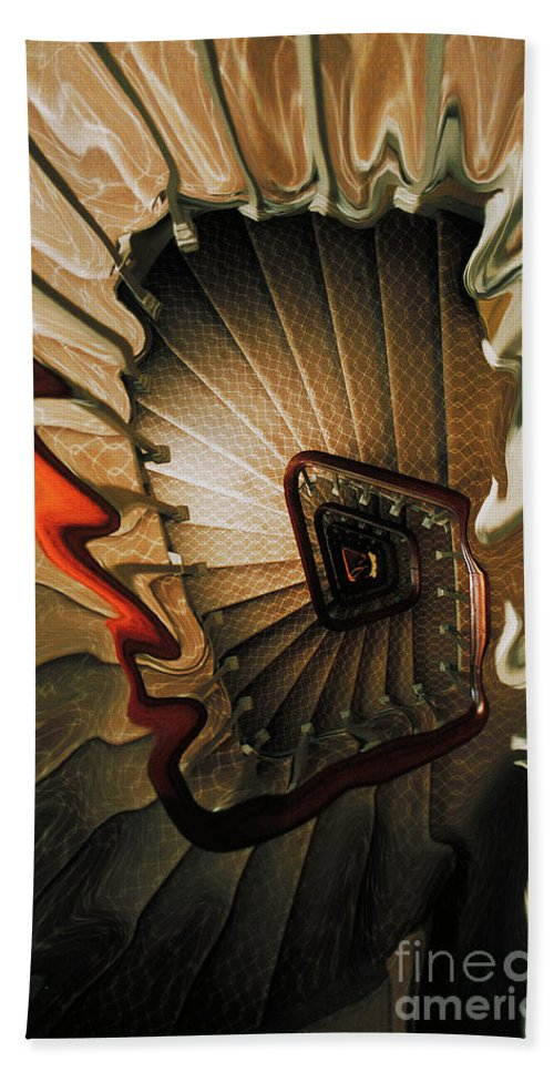 Staircase Hand Towel featuring the photograph The Staircase by Mike Nellums