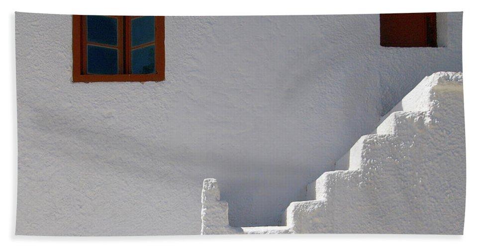 Jouko Lehto Hand Towel featuring the photograph The Steps And The Window by Jouko Lehto