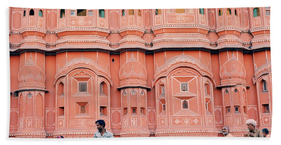 Palace Of The Winds Bath Sheet featuring the photograph Street Life Of India by Shaun Higson