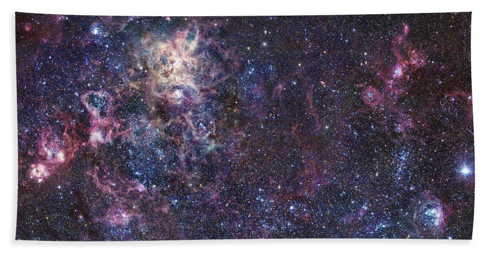 30 Doradus Bath Sheet featuring the photograph The Tarantula Nebula by Robert Gendler