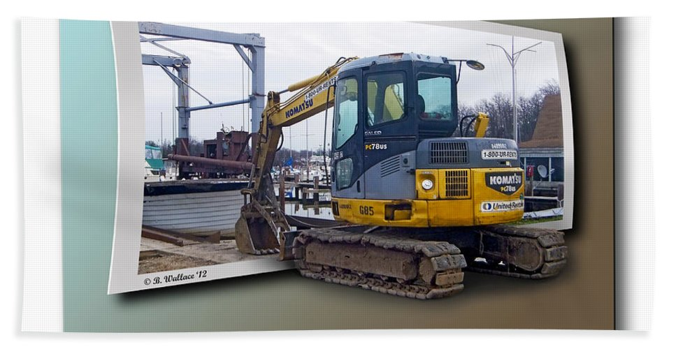 2d Bath Sheet featuring the photograph The Tracks Of My Piers by Brian Wallace