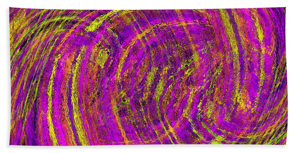 Abstract Hand Towel featuring the digital art The Wave by Tim Allen