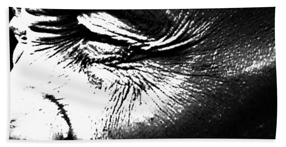 Black And White World Photographer Hand Towel featuring the photograph The Wince Of Wonder by The Artist Project