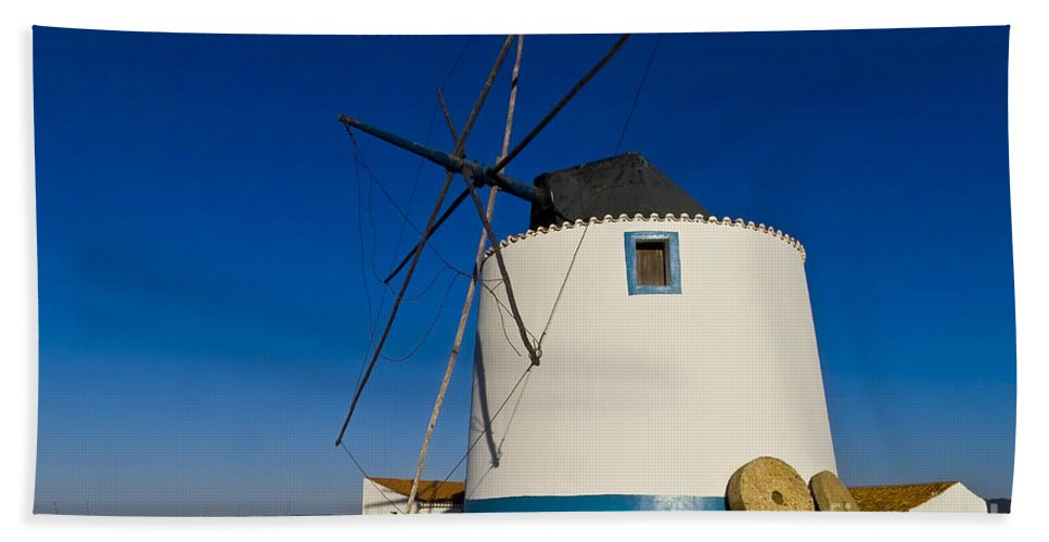 Windmills Bath Sheet featuring the photograph The Windmill by Heiko Koehrer-Wagner