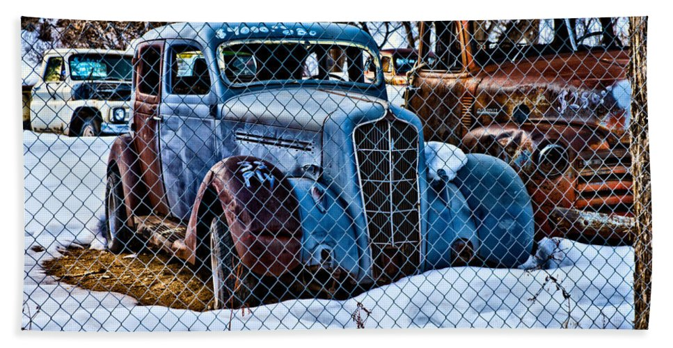 Cars Hand Towel featuring the photograph The Winter Of Existence by Christopher Holmes