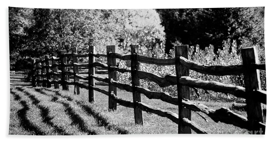 Fence Hand Towel featuring the photograph The Wooden Fence by Mike Nellums