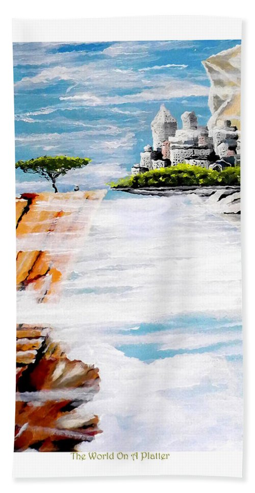 Sky Bath Sheet featuring the painting The World On A Platter by C F Legette