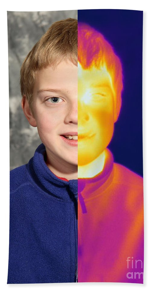 Thermogram Hand Towel featuring the photograph Thermography by Ted Kinsman