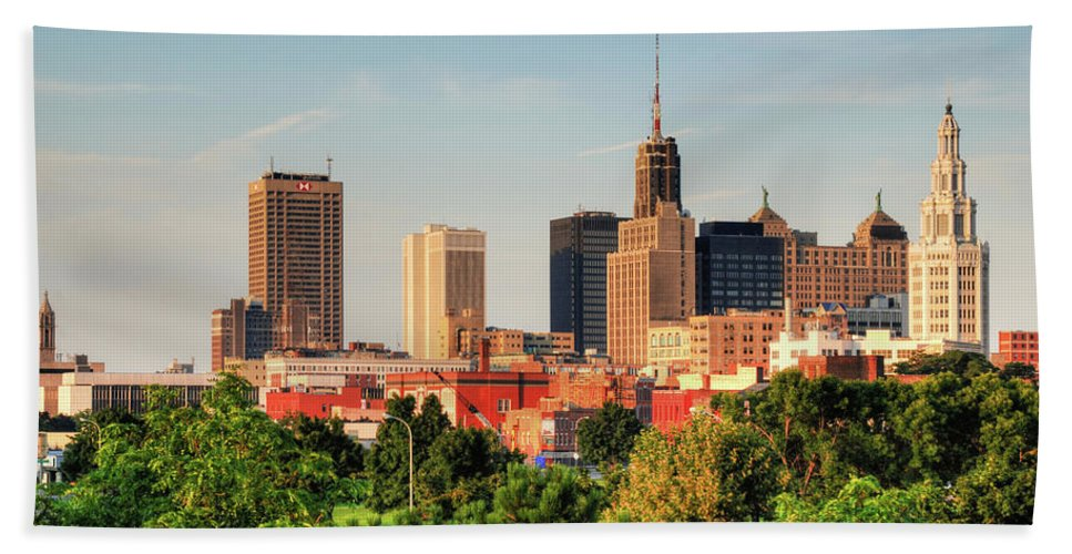 Architecture Hand Towel featuring the photograph This Is My Town - Buffalo by Guy Whiteley