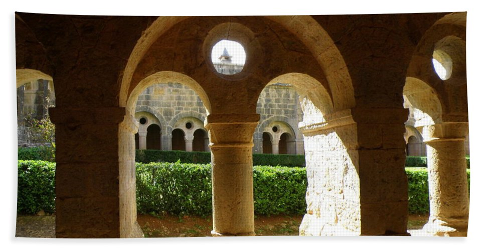 Spiritual Bath Sheet featuring the photograph Thoronet Chapter House by Lainie Wrightson