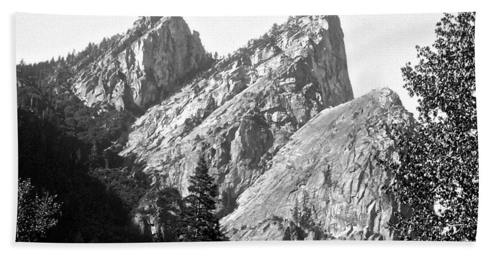 Yosemite Bath Sheet featuring the photograph Three Brothers by Eric Tressler