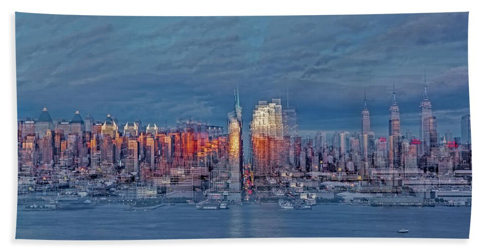 Nyc Hand Towel featuring the photograph Three Times New York City by Susan Candelario