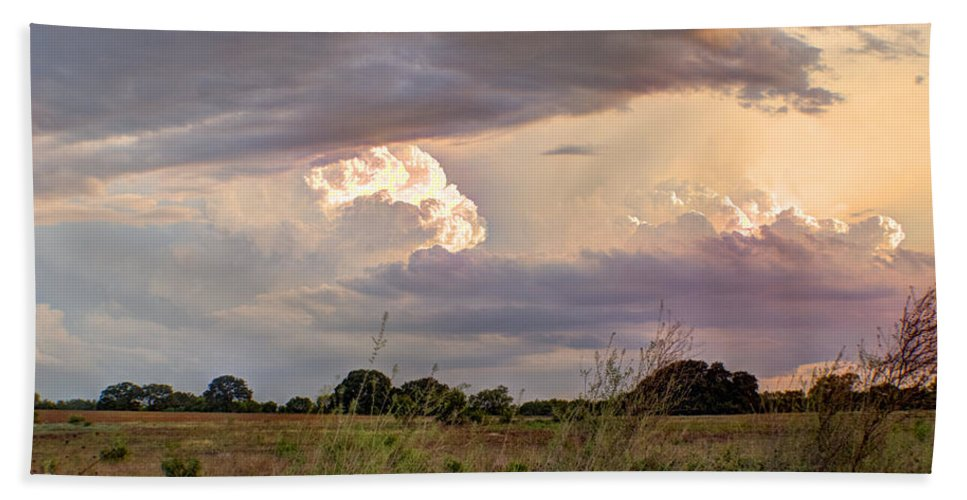 Clouds Bath Towel featuring the photograph Thunderclouds by Beth Gates-Sully