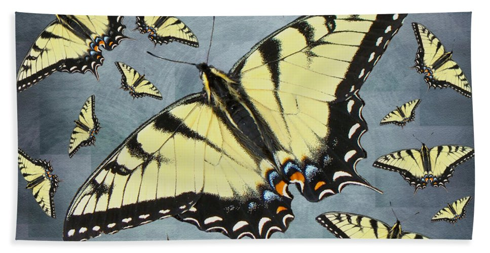 Butterfly Hand Towel featuring the photograph Tiger Swallowtail Butterfly by Mother Nature