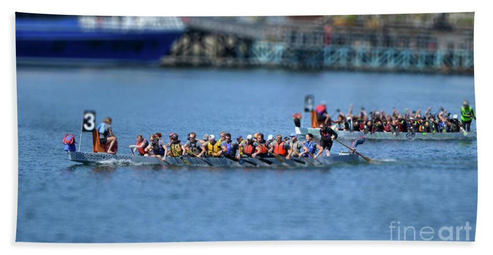 Dragon Boat Races Hand Towel featuring the photograph Tiny Dragons by Traci Cottingham
