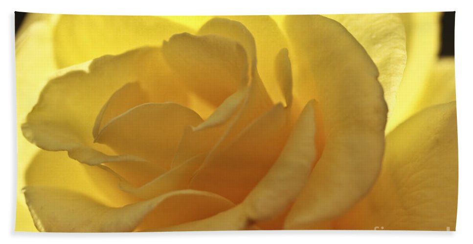 Yellow Rose Bath Sheet featuring the photograph To Be A Lady by Kim Henderson